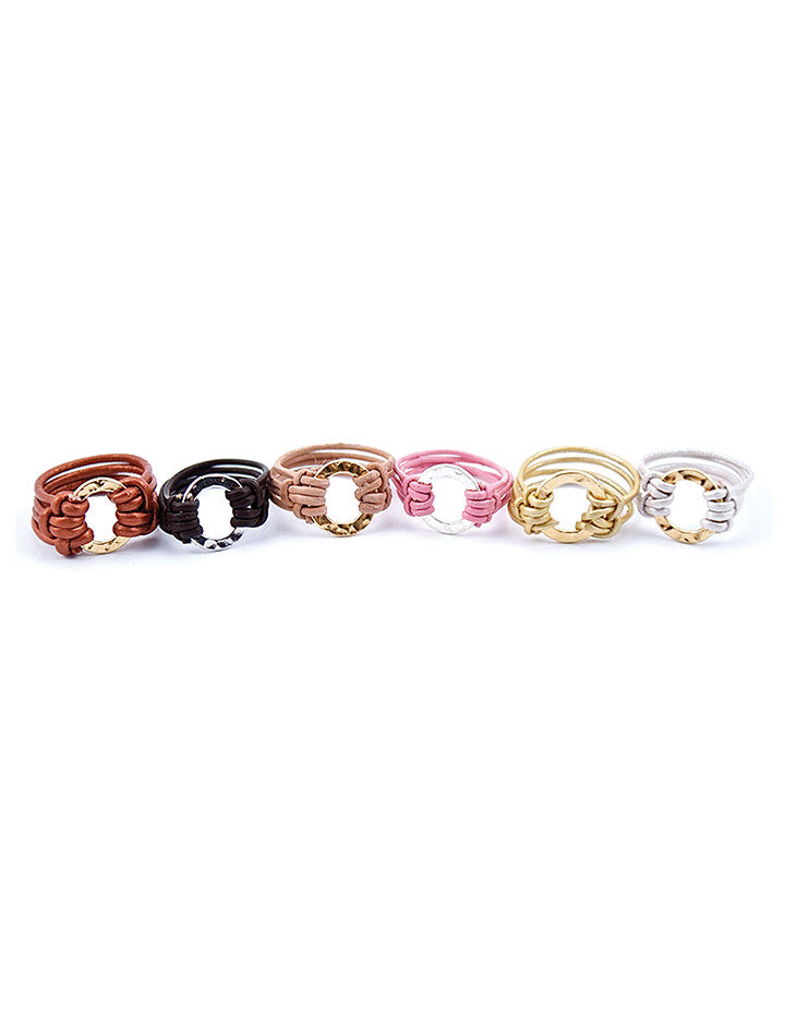 HL LEATHER RING | CIRCLE