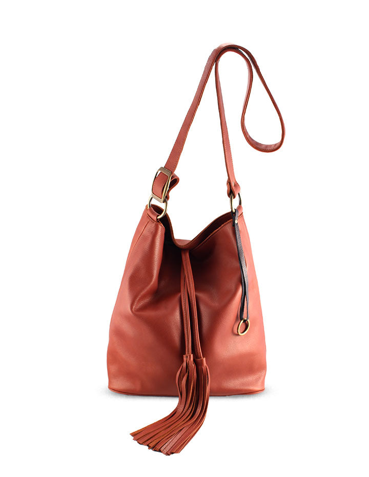 INA LEATHER HANDBAG