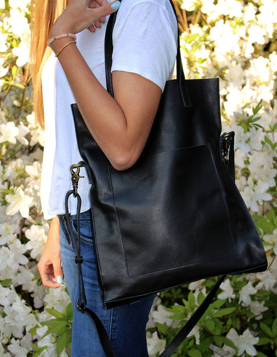 JILL LEATHER HANDBAG - HENRI LOU DESIGNS