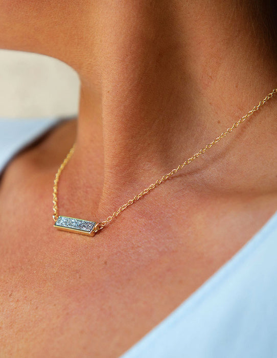 DRUZY BAR PENDANT NECKLACE - HENRI LOU DESIGNS