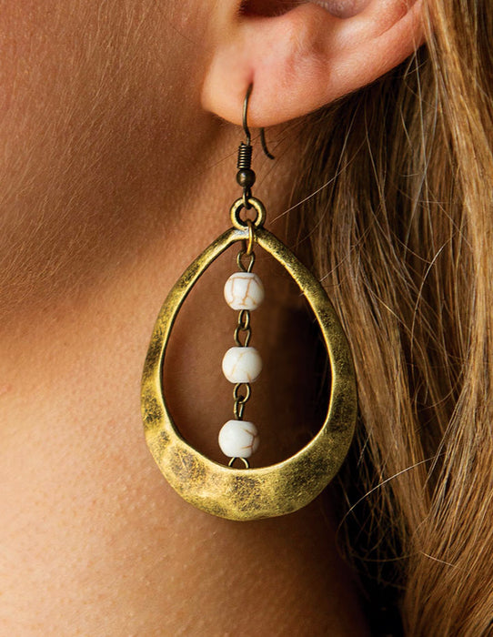 TEARDROP TRIPLET EARRINGS - HENRI LOU DESIGNS
