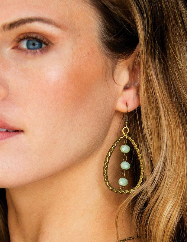 VINTAGE TEARDROP EARRINGS - HENRI LOU DESIGNS