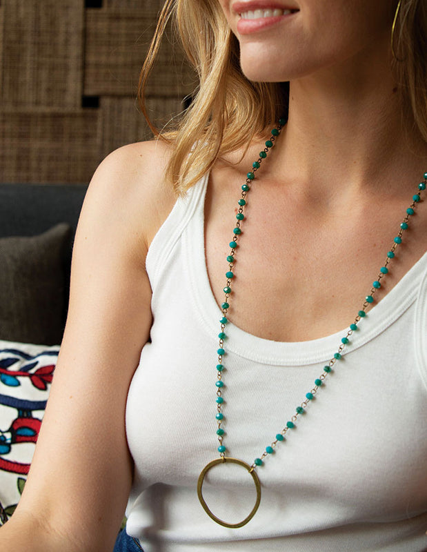 BEADED BOHO NECKLACE - HENRI LOU DESIGNS