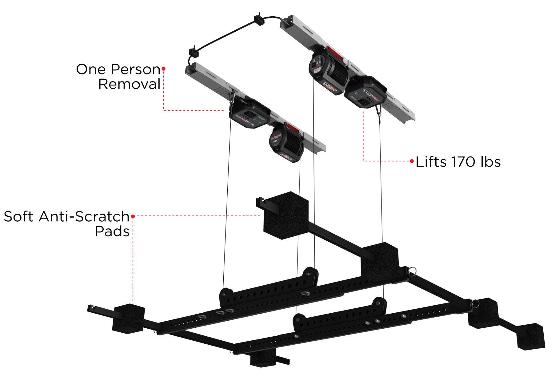 Hard Top Lifter Features