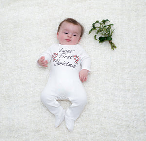 Personalised First Christmas Sleepsuit