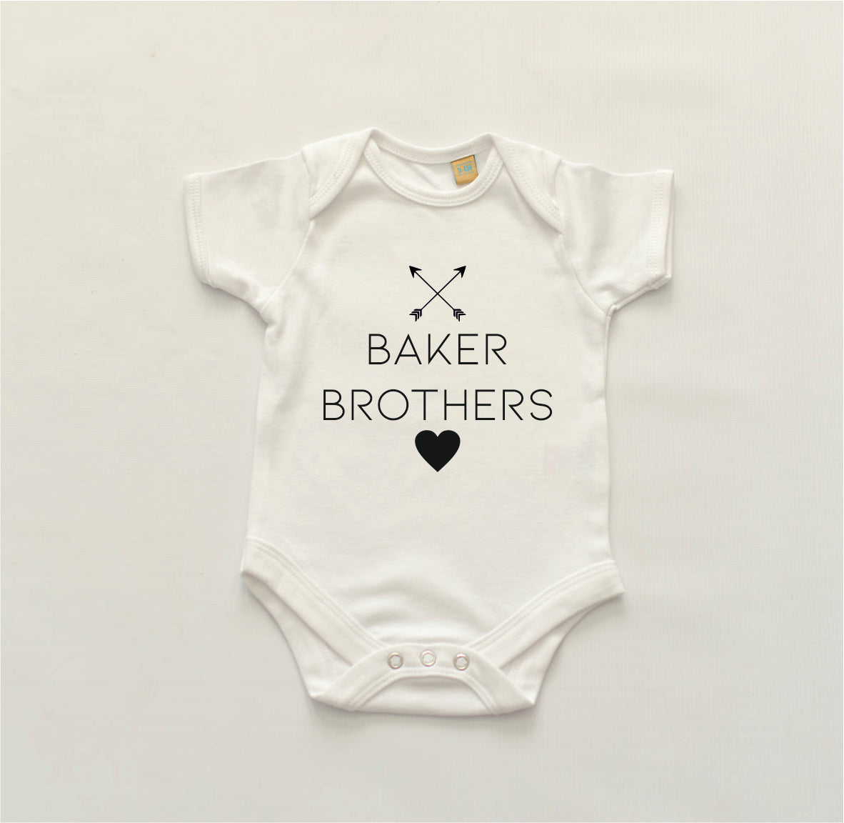 Crossed Arrow Tshirt & Bodysuit Sibling Set