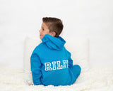 Riley Personalised Kids Sapphire Blue Onesie