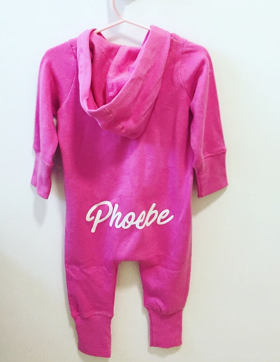 Phoebe Personalised Bubblegum Pink All in One