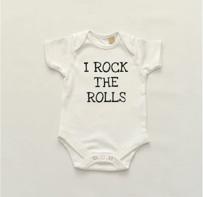 I Rock the Rolls Short Sleeved Bodysuit