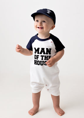 Man of the  House Baseball Playsuit