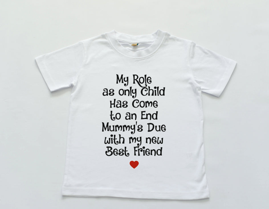 Only Child announcement tee