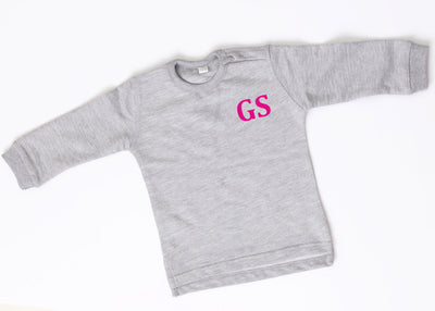 Personalised Grey Sweatshirt- Pink