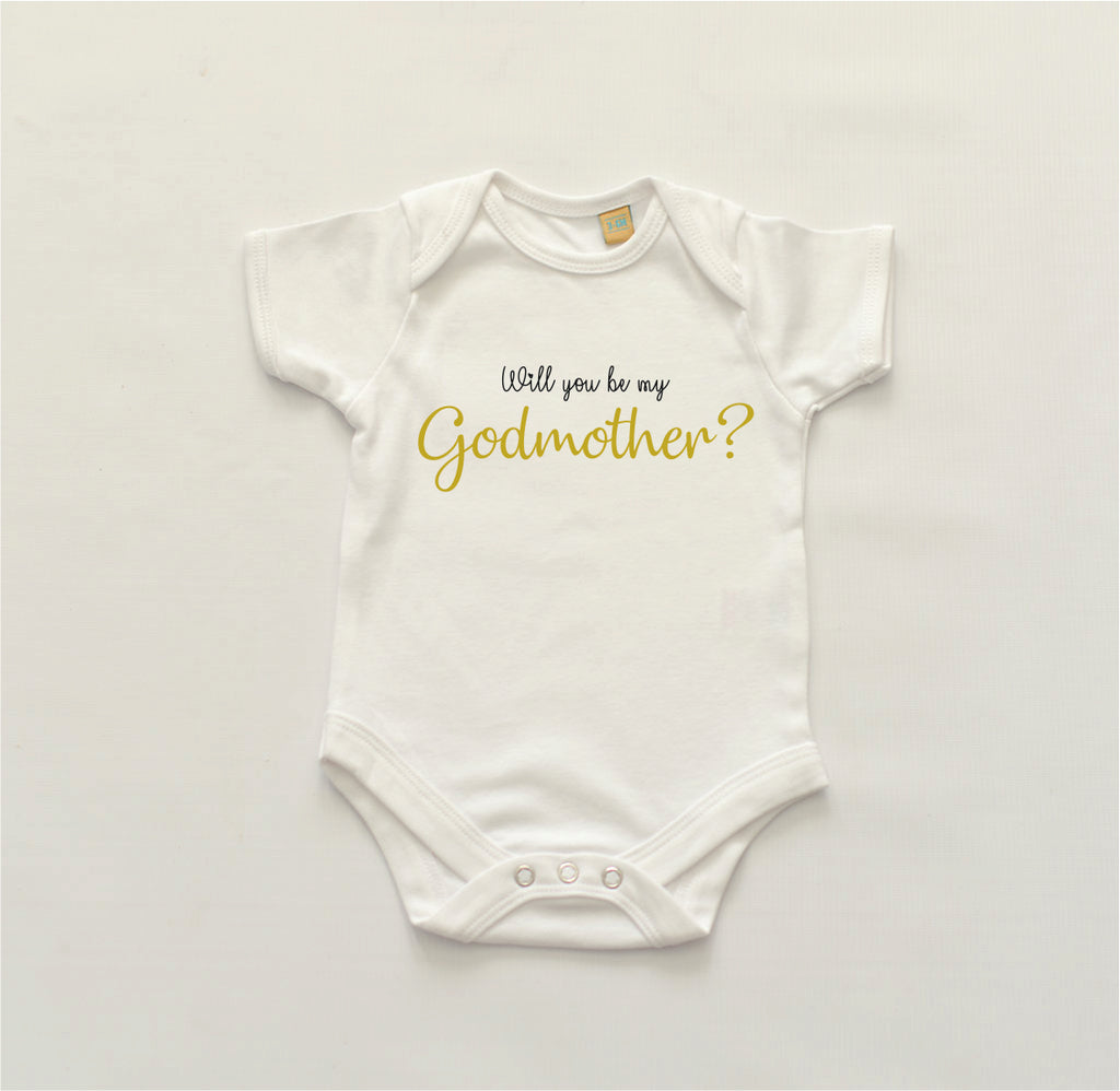 'Will you be my Godmother/Godfather/Godparents?' Bodysuit
