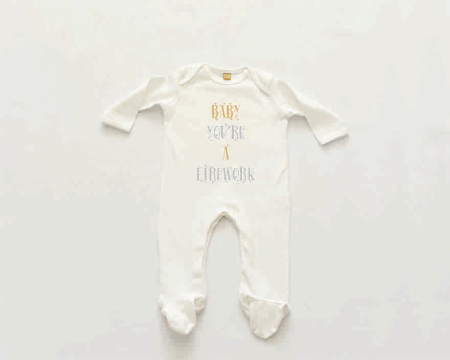 'Baby your're a firework' Sleepsuit