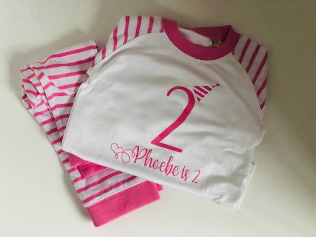 Personalised Birthday Pyjama's