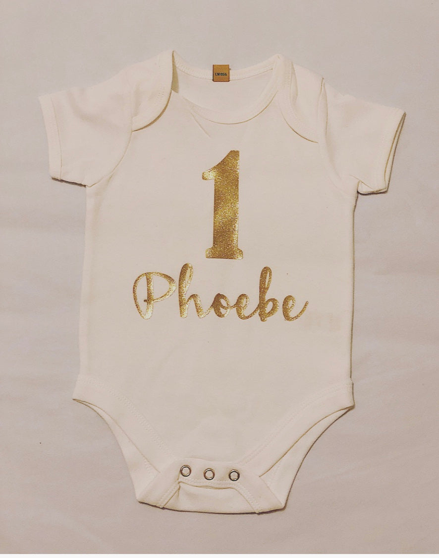 Personalised First Birthday Bodysuit