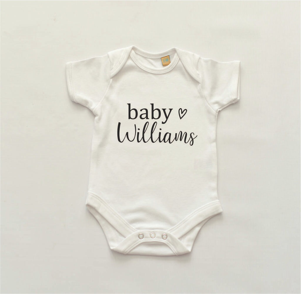 Personalised 'Baby' Bodysuit