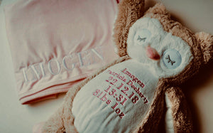 Embroidered personalised Blanket