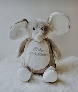 'Baby' embroidered zippie teddy