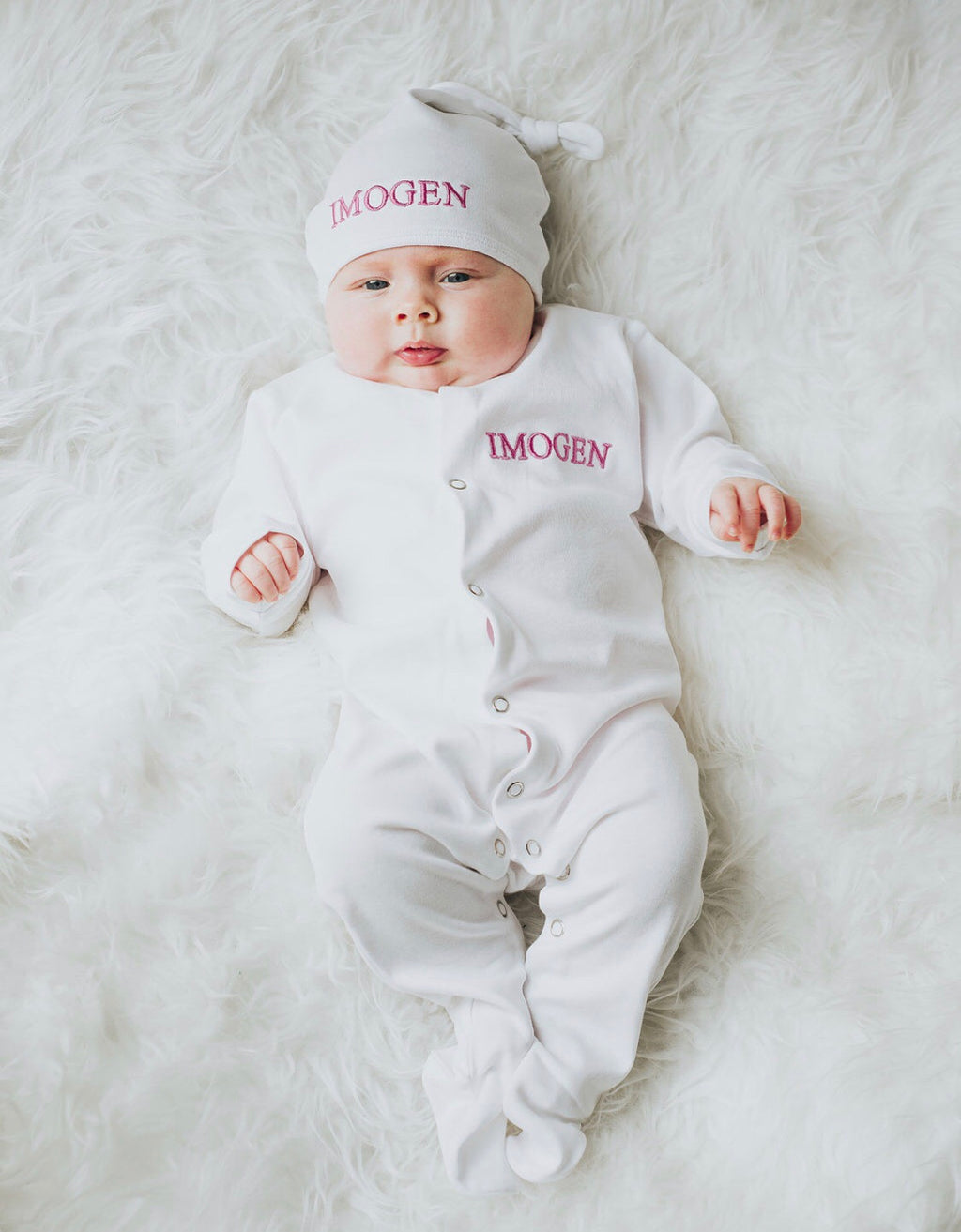 Imogen Embroidered Sleepsuit