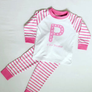 Alphabet Striped Pyjamas