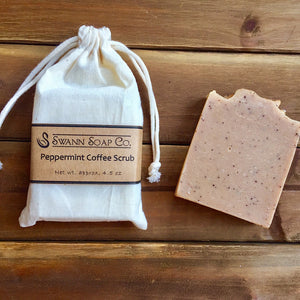 Peppermint Coffee Scrub Bar