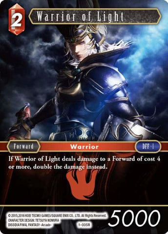 1-005R Warrior Of Light - Trading Card