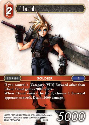 1-009C Cloud - Trading Card