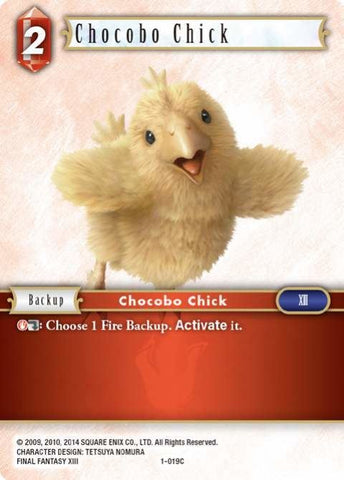 1-019C Chocobo Chick - Trading Card