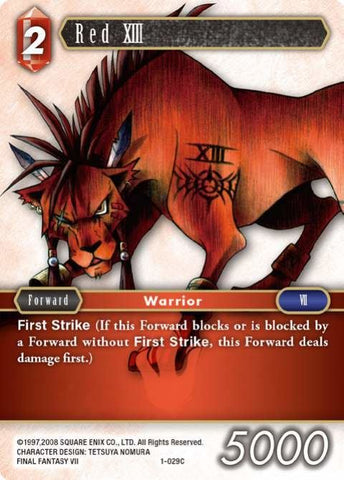 1-029C Red Xiii - Trading Card