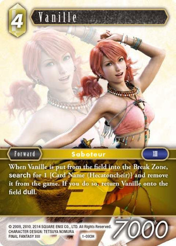 1-093H Vanille - Trading Card