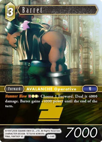 1-114R Barret - Trading Card