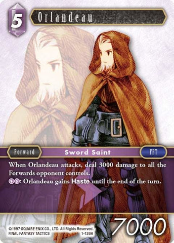 1-126H Orlandeau - Trading Card