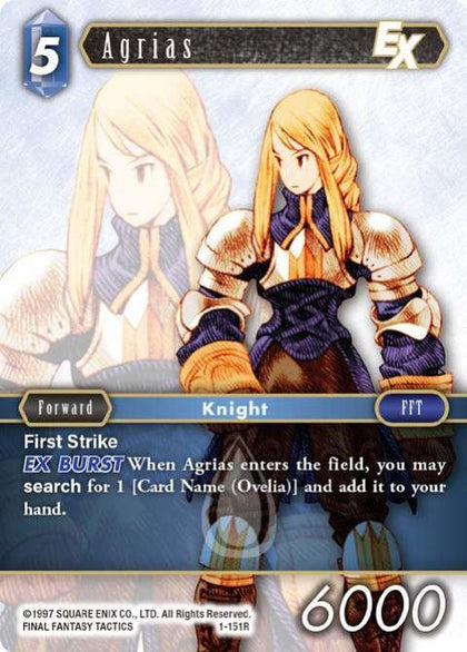 1-151R Agrias - Trading Card