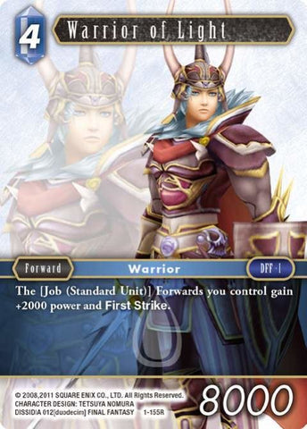 1-155R Warrior Of Light - Trading Card