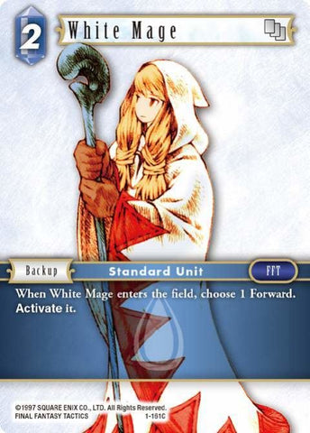 1-161C White Mage - Trading Card