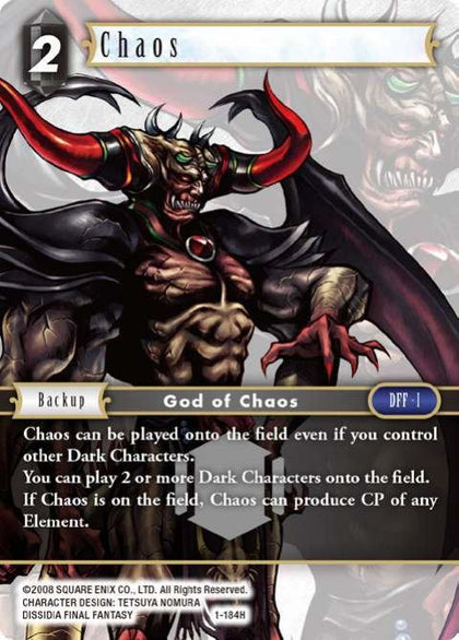 1-184H Chaos - Trading Card