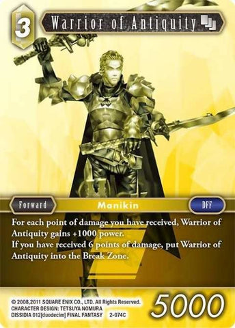 2-074C Warrior Of Antiquity - Trading Card