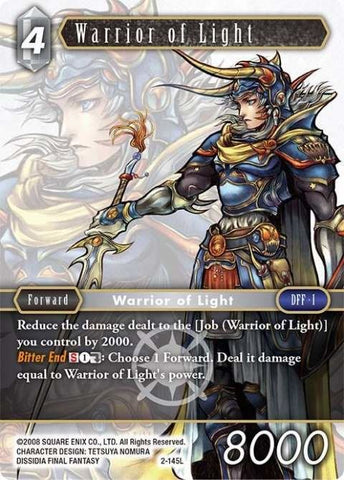 2-145L Warrior Of Light - Trading Card