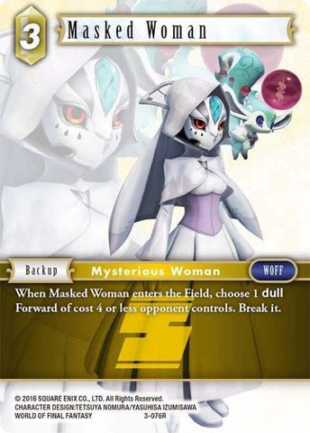 3-076R Masked Woman - Trading Card