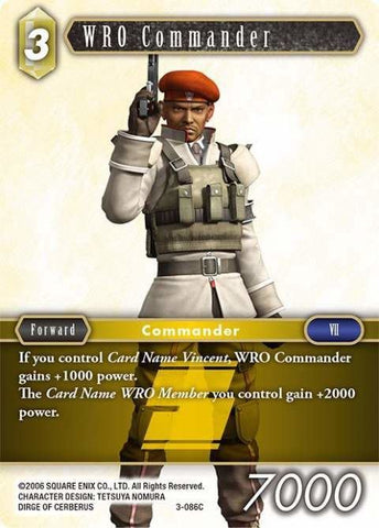 3-086C Wro Commander - Trading Card