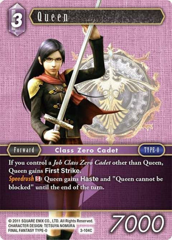 3-104C Queen - Trading Card