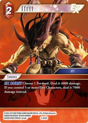 4-003C Ifrit - Trading Card
