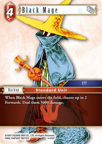 4-010C Black Mage - Trading Card