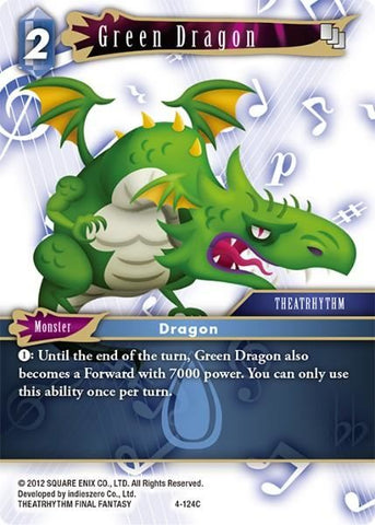 4-124C Green Dragon - Trading Card