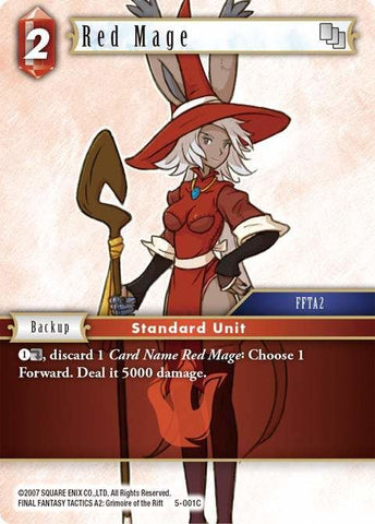 5-001C Red Mage - Trading Card