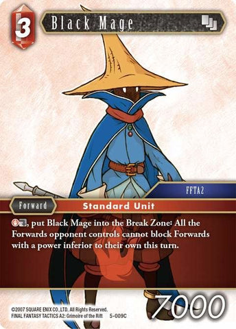 5-009C Black Mage - Trading Card