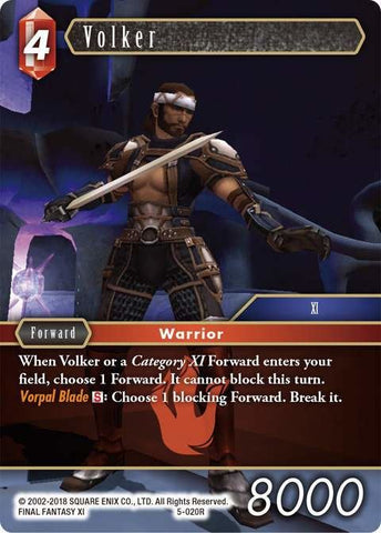 5-020R Volker - Trading Card