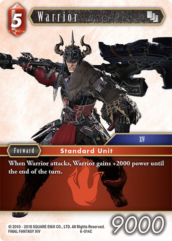 6-014C Warrior - Trading Card