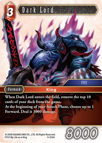 6-016H Dark Lord - Trading Card